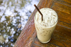Iced Latte coffee on table Stock Images