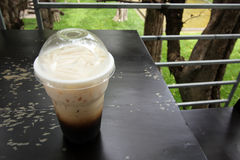 Iced latte coffee Stock Image