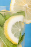 Iced lemon and mint drink Stock Photos