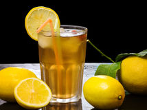 Iced lemon tea Royalty Free Stock Photo