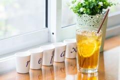 Iced lemon tea Royalty Free Stock Photography
