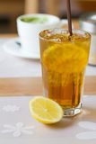 Iced lemon tea Stock Photos
