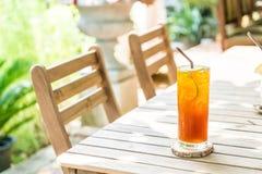 iced lemon tea stock image
