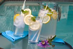Iced lemonade Royalty Free Stock Images