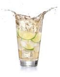Iced lemonade soda in a glass Stock Image