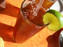 iced limefrukttea royaltyfri bild