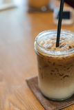 Iced machiato coffee. On table Stock Photo