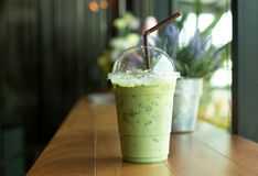Iced matcha green tea Royalty Free Stock Images