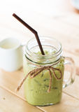 Iced matcha latte Stock Photography