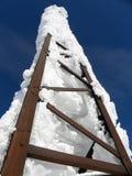 Iced Metal Tower. On Cherni vrah peak, Vitosha Mountain, Bulgaria Royalty Free Stock Photo