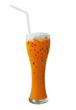Iced milk tea Stock Photo
