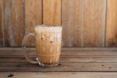 Iced milk thai tea. Iced milk tea, famous drink in Thailand royalty free stock photo