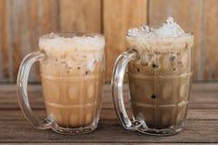 Iced milk thai tea. Iced milk tea, famous drink in Thailand stock photography