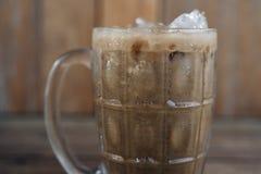 Iced milk thai tea. Iced milk tea, famous drink in Thailand royalty free stock image