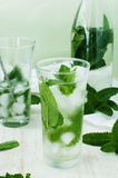 Iced mint water on a table Stock Images