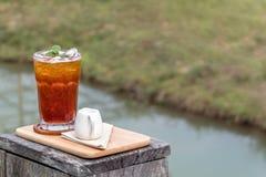 Iced Orange Tea With Milk Stock Photo