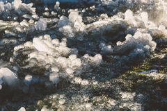 Iced over grass in an abstract beautiful form Stock Photography