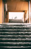 Iced over stairs Stock Image
