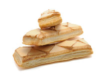 Iced Puff Pastry Biscuits Royalty Free Stock Image