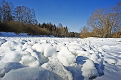 Iced river Stock Images