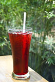 Iced roselle juice. Thai herbal juice : roselle juice Royalty Free Stock Photo