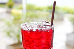 Iced roselle juice. Royalty Free Stock Photos