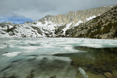 Iced Ruby lake, California Royalty Free Stock Photos