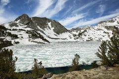 Iced Ruby lake, California Royalty Free Stock Images