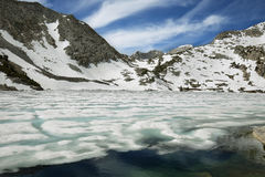 Iced Ruby lake, California Royalty Free Stock Photography