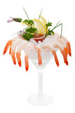 Iced shrimp cocktail Stock Photos