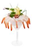 Iced shrimp cocktail stock photos
