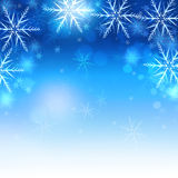 Iced Snowflakes and Sparkle Christmas Background Stock Photo