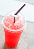 Iced strawberry juice Royalty Free Stock Photos