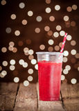 Iced strawberry smoothie Royalty Free Stock Photography