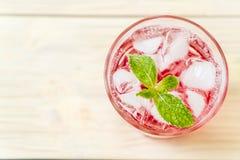iced strawberry soda Royalty Free Stock Photos