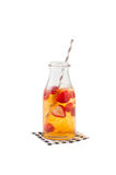 Iced strawberry tea Stock Images