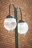 Iced Street Lamp Stock Photo