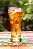 Iced tea. Nature and the freshness of the iced tea stock photos