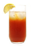 Iced Tea. Refreshing tall glass of iced tea with lemon royalty free stock images