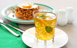 Iced Tea With Beans Royalty Free Stock Photos