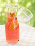 Iced tea. In bottle with lemon. selective focus stock image