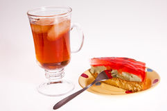 Iced tea and cake dessert Stock Photography