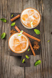 Iced tea or chai masala Royalty Free Stock Images