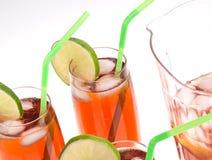 Iced Tea Glasses on White Stock Image