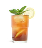 Iced tea, isolated Stock Image