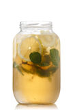 Iced tea in a jar Royalty Free Stock Images