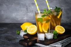 iced tea kall drinksommar Fotografering för Bildbyråer