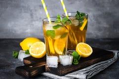 iced tea kall drinksommar Royaltyfri Bild