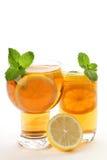 Iced tea with lemon Royalty Free Stock Photos