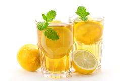 Iced tea with lemon Royalty Free Stock Photo